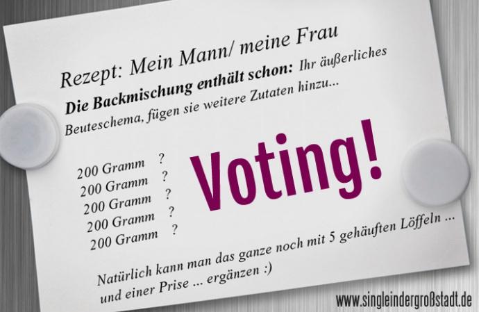 voting backe backe kuchen single in der gro stadt. Black Bedroom Furniture Sets. Home Design Ideas