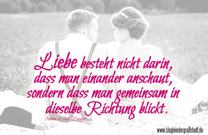 Liebe Ist Gemeinsam In Dieselbe Richtung Zu Blicken